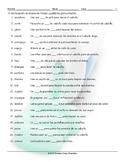Health and Personal Hygiene Spanish Study Sheet