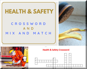 Health and Safety Basic Crossword and Mix N Match Printables