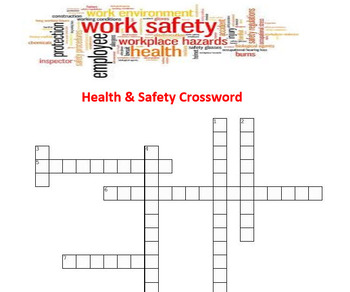 Health and Safety Crossword Puzzle
