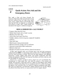 Health and Safety: Handling Health Prblms-Quick Action: First Aid & Emergency Rm