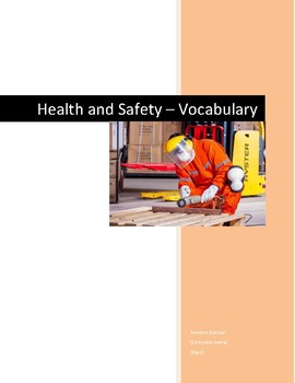 Health and Safety Mix n Match Vocabulary Activity