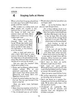 Health and Safety: Prevention: The Best Cure-Staying Safe at Home