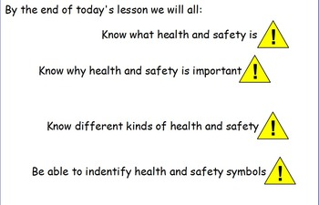 Health and Safety Signs (Life Skills/Severe Needs)