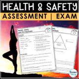 Health and Safety Test | First Aid Exam EDITABLE Assessmen