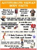 Health and Science Poster: Astonishing Human Body Facts