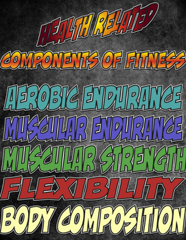 Health and Skill Related Fitness Charts