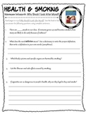 Health and Smoking - Reading Comprehension Worksheet