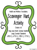 Health and Wellness Vocabulary Scavenger Hunt