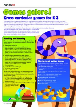 Health and classroom games. Time and dice game.