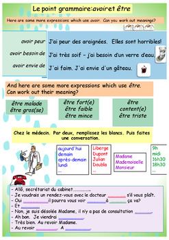 French health, santé booklet for beginners
