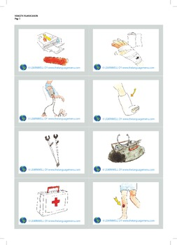Health picture flash cards