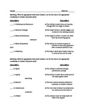 Health/Skill Related Components of Fitness Quiz & Answer Key