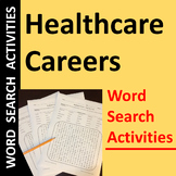 Healthcare Careers Word Search Activities