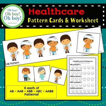 Healthcare Pattern Cards & Worksheet - S