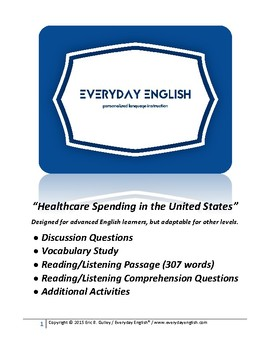 Complete Adult ESL Lesson (Healthcare Spending in the United States)