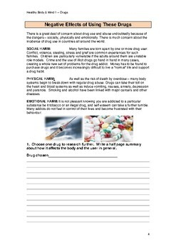 Healthy Body and Mind 1: Drugs VCAL RESOURCES