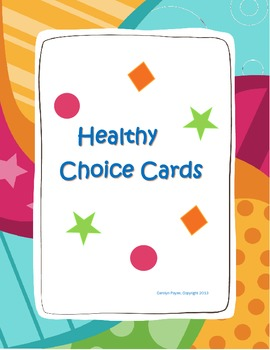 Healthy Choice Cards:  Matching Game