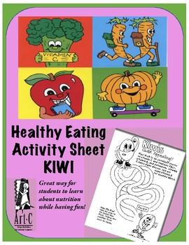 Healthy Choices Activity Sheet: Kiwis