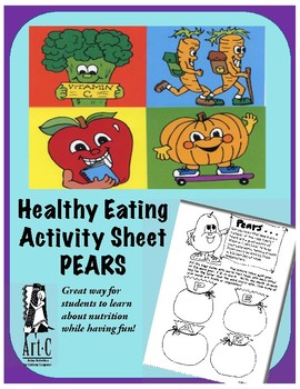 Healthy Choices Activity Sheet: Pears