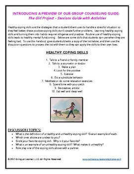 Healthy Coping Skills Activity
