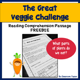 Healthy Eating: Vegetable Plants Reading Comprehension Passage FREEBIE