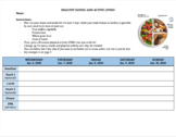 Healthy Eating & Active Living - Weekly Activity