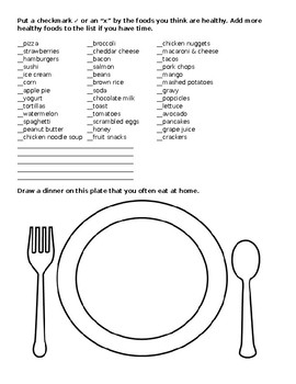 Healthy Eating Activity
