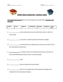 Healthy Eating Quiz/Test with rubric - Nutrition Labels