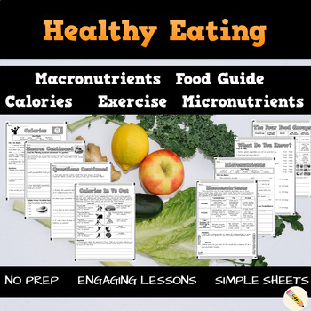 Healthy Eating Canada Worksheets