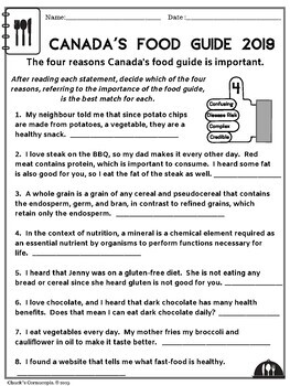 Healthy Eating - Canada's Food Guide - New 2019 Edition