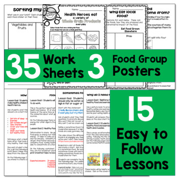 BUNDLED Healthy Eating Unit with Rubric and Lessons - Canadian Grade 3