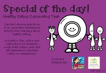 Healthy Eating Culminating Task