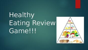 Healthy Eating/Food Groups Review Game