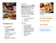 Healthy Eating Habits at home Brochure for Families