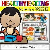 Healthy Eating & Nutrition: I Can Eat a Rainbow {FREEBIE}