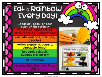 Healthy Eating & Nutrition: I Can Eat a Rainbow {FREEBIE}