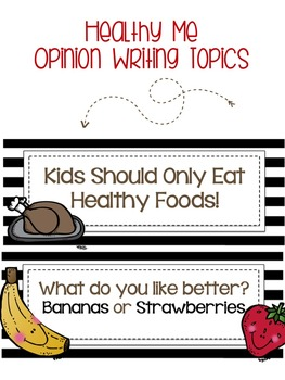 Healthy Me Opinion Writing Common Core Aligned