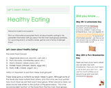 Healthy Eating Pamphlet
