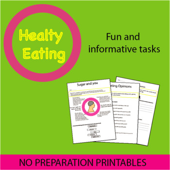 Healthy Eating: Spot Lesson with No Prep!