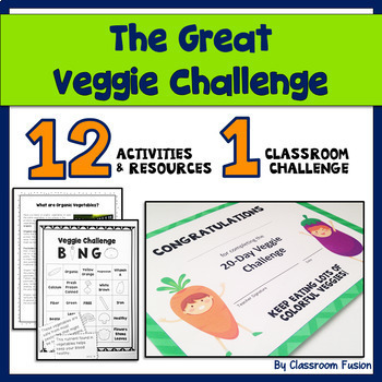 Healthy Eating and Nutritional Activities and Printables: Vegetable Bundle (3-5)