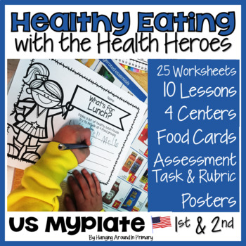 Healthy Eating Unit with Rubric and Lessons - US MyPlate Edition