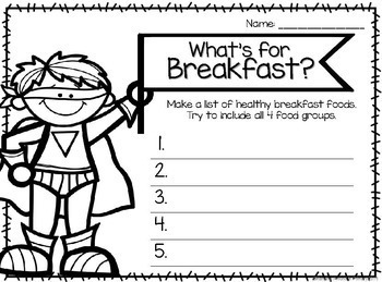 BUNDLED Healthy Eating Unit with Rubric and Lessons - US MyPlate Edition