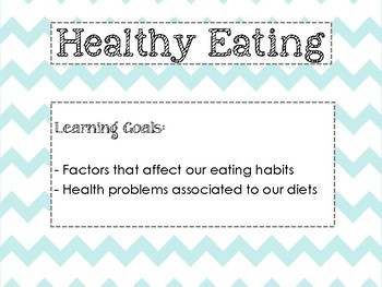 Healthy Eating Unit