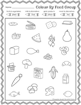 Healthy Eating: a nutrition & food groups pack with activities, posters, & MORE!