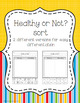 Healthy Eating and Food Groups Activities