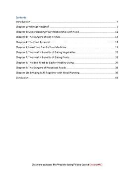 Healthy Eating eBook PDF