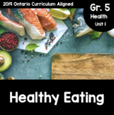 {Grade 5} Unit 1: Healthy Eating Activity Packet