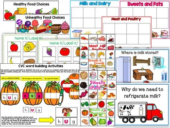 Healthy Eating:Connects with Language Arts, Math, Science-Cross Curricular Kit