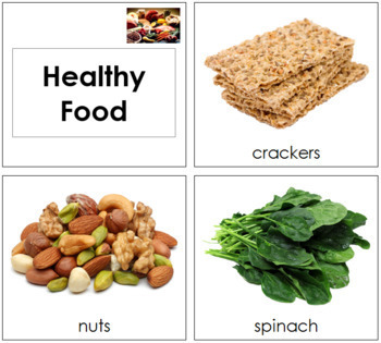 Healthy Food Cards - Toddler
