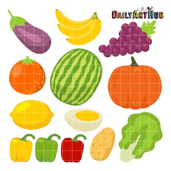 Healthy Food Clip Art - Great for Art Class Projects!
